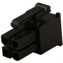 Black 4 Pin Female ATX/EPS Power Connector Socket With Crimps